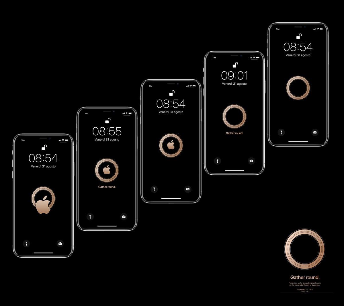 Iphone X と Iphone 用スペシャルイベント壁紙が公開 私設apple