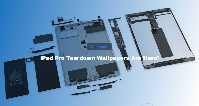 壁紙 Ipad Pro 版の内部が透けているような壁紙公開 Ifixit