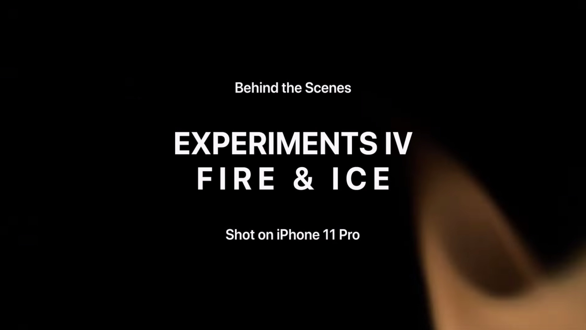 Apple Iphone 11 Proで撮影した Experiments Iv Fire Ice を公開