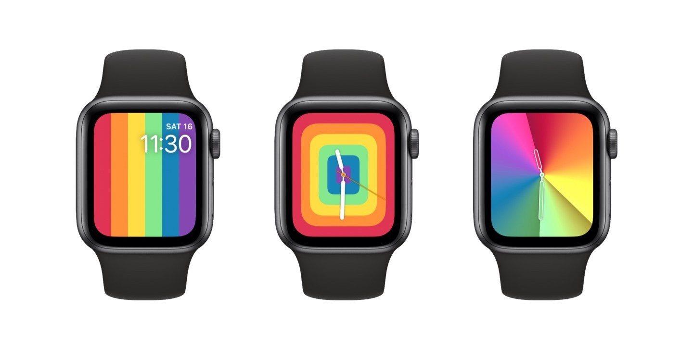 New apple watch rainbow faces