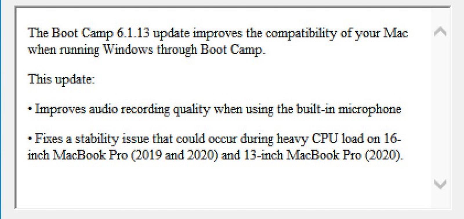 16 inch macbook pro 2020 boot camp 1